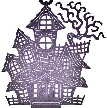 VT BigHome New Metal Cutting Dies Halloween Castle Stencil for DIY Scrapbooking Photo Album Embossing Paper Card Decorative Crafts Die Cuts