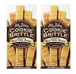 Holly Baking All Natural Crisp & Buttery Cookie Brittle Original Butter Rich 6oz (Pack of 2)