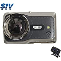 SIV 3.0 Front Full HD 1080P Dual Lens DVR Novatek 96663 Dual Sony322 Wide-angle Car Video Camera With Night Vision,Parking Monitor,G-sensor,SOS Recording And WDR System