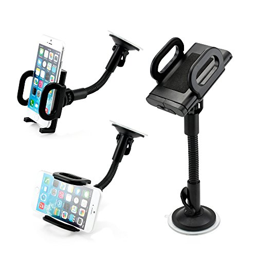 GEARONIC TM Universal I Shape Windshield Car Mount Holder Bracket For Smart Cell iPhone 6/5/4 Phones iPod Note