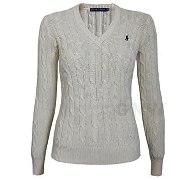 Ralph Lauren Ladieswomens Luxury V Neck Jumper Sweater Black