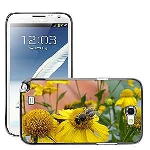 Etui Housse Coque de Protection Cover Rigide pour // M00112370 Sun Brews abeja Flores Planta Amarillo // Samsung Galaxy Note 2 II N7100