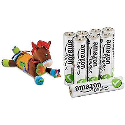 Melissa & Doug Giddy-Up and Play Activity Toy with Basics AAA Batteries Bundle: Toys & Games