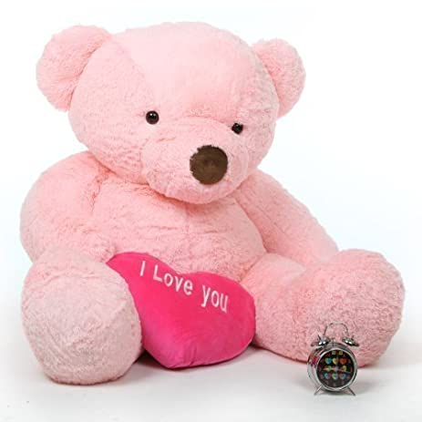 gigi love chubs 55 pink life size i love you valentines day teddy - Giant Teddy Bear For Valentines Day