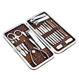 Manicure Set 18pcs Stainless Steel Manicure Pedicure Set Care Foot Tools Nail clippers Kit