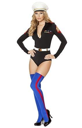 sexy marine girl romper halloween costume