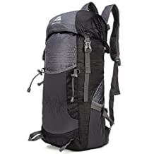 Mozone Large 40l Lightweight Water Resistant Travel Backpack/foldable & Packable Hiking Daypack Black