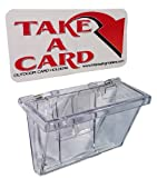 Marketing Holders Clear Outdoor Vehicle Business Card Holder FREE (TAKE A CARD) Sticker included as Pictured