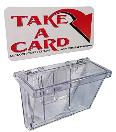 Marketing holders clear outdoor vehicle business card holder free take a card sticker included