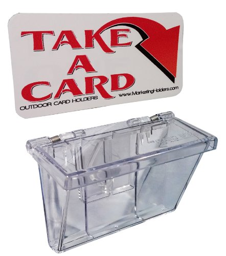 Marketing Holders Clear Outdoor Vehicle Business Card Holder FREE (TAKE A CARD) Sticker included as Pictured (1, - Car Business Card