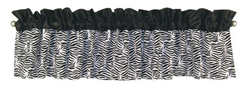 Trend Lab Window Valance, Black/White Zebra Print
