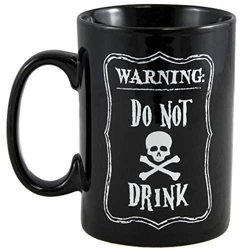 Warning Do Not Drink Witches Potion Skull & Crossbones Halloween Coffee Mug (Scary Halloween Coffee Mugs)