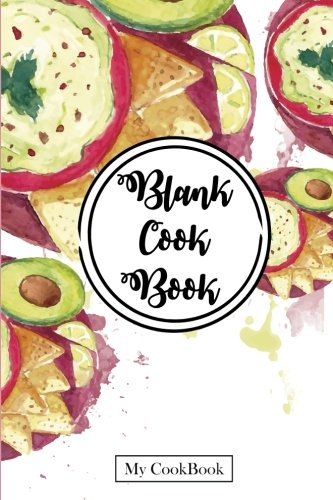 """Download Blank Cookbook: Recipe Journal From My Kitchen, 6"""" x 9"""",104 pages: Watercolor Kinetic Dinner (Recipe Journal Blank Cookbook to write in) pdf epub"""