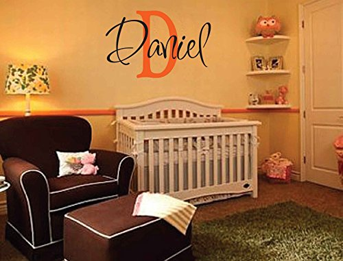 Personalized Monogram Kids Wall Decals - Boys Wall Decal- Name Vinyl Lettering - baby boy nursery wall decal Daniel