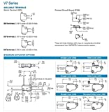 Honeywell V7-7B17D8, Micro Switch V7 Series
