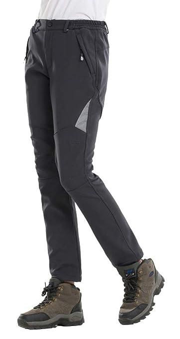 Geval Los Pantalones al Aire Libre a Prueba de Viento Softshell Polar Nieve esqu/í de Las Mujeres