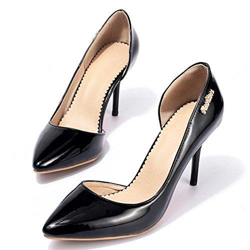 Simple TAOFFEN Hauts Chaussures Femmes Black Élégant Pointue Talons de 15 Aiguille Escarpins gHWSHqcrR