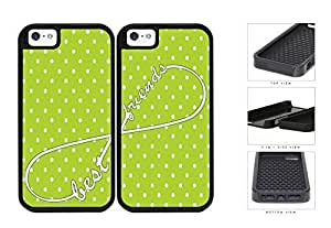 Lime Green Polka Dot Infinity Best Friends Set 2-Piece Dual Layer High Impact Hard shellSilicone Cell Phone Case Case For Iphone 6 4.7 Inch Cover