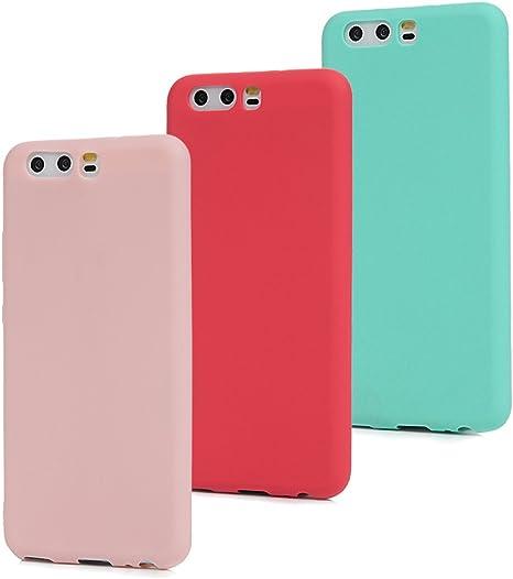 MAXFE.CO 3X Cover Huawei P10 (Non per Huawei P10 Plus) Custodia Morbida Silicone TPU Flessibile Gomma Case Ultra Sottile Cassa Protettiva per Huawei ...