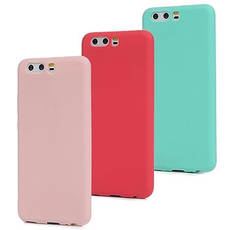 selezione migliore aa361 06aaa MAXFE.CO 3x Cover Huawei P10 (Non per Huawei P10 Plus) Custodia Morbida  Silicone TPU Flessibile Gomma Case Ultra Sottile Cassa Protettiva per  Huawei ...