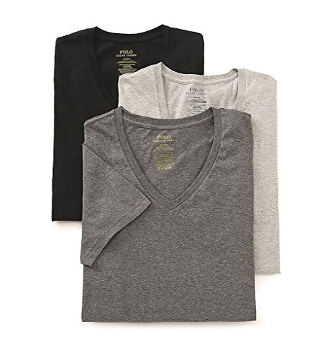 Polo Ralph Lauren Classic V-Neck T-Shirts 3-Pack, XL, Assorted Grey