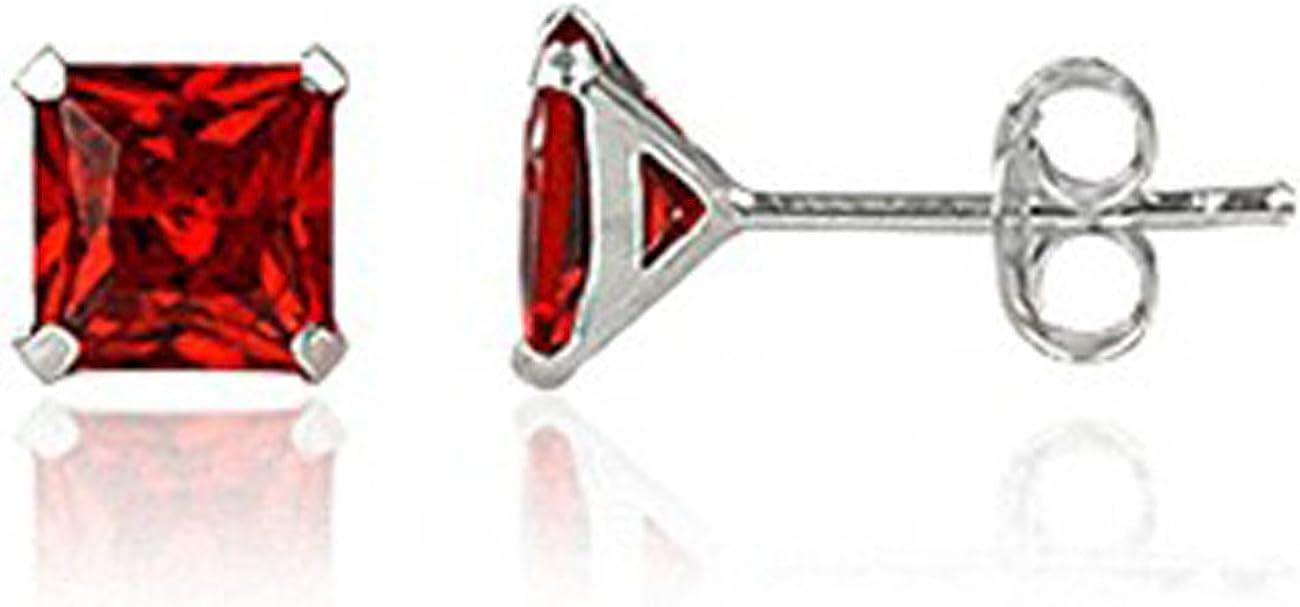 Córdoba Jewels | Pendientes en plata de Ley 925. Diseño Zirconita Cuadrada