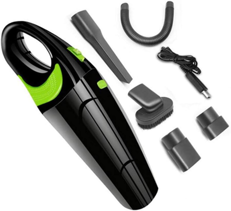 Aspiradora De Mano Sin Cable USB Recargable Para Automóvil Aspirador Inalámbrico Portátil De 120W Potente 6500Pa Para Uso En Seco Y En Húmedo Aspirador Doméstico Para Automóvil,All black fruit green