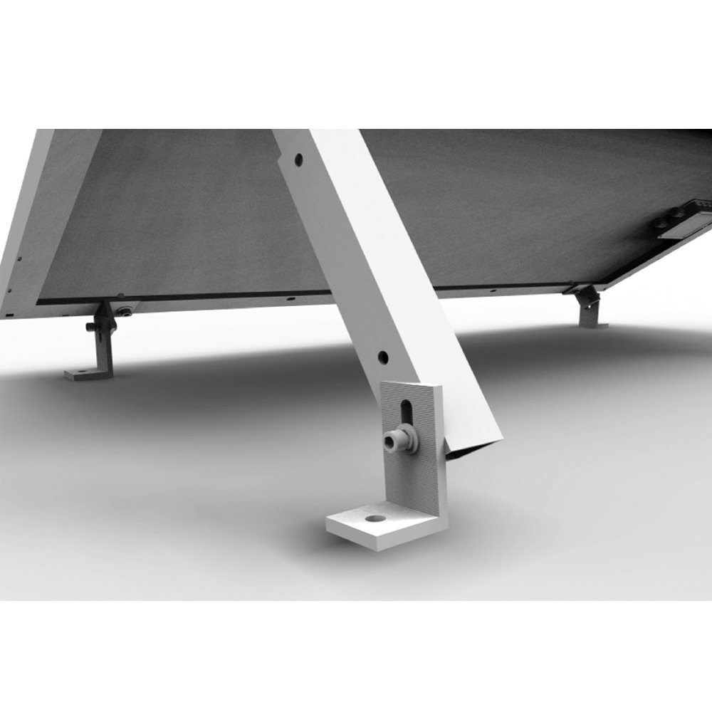 RENOGY Adjustable Solar Panel Tilt Mount Brackets support up to 150 Watt Solar Panel for Roof, RV, Boat and Any Flat Surface, for on-grid/off-grid systems (Mount Only) by Renogy
