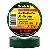 35-Green-3/4 - 3M Scotch Vinyl Electrical Color Coding Tape, 3/4'' x 66', Green, Pack of 2