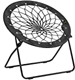Bunjo Bungee Chair Black & Gray (Black to Grey) (Black to Grey)