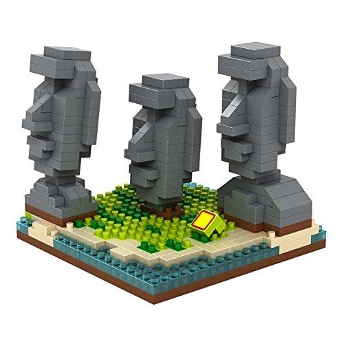 POCO DIVO Easter Island Moai Statues Micro Block Building Set (440 pcs)