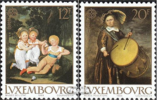 Luxembourg 1219-1220 (Complete.Issue.) 1989 Kids Games (Stamps for Collectors)