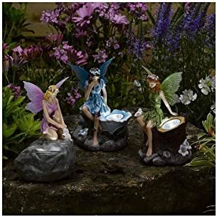 Smart Garden Solar Set of 3 Magical Fairy Shaped Spotlights LED