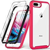 iPhone SE Case 2020,iPhone 8 Case,iPhone 7 Case with Tempered Glass Screen Protector,Military Grade 16ft. Drop Tested Cover,Slim Fit Protective Phone Case for iPhone 7/8/ iPhone SE2 Pink