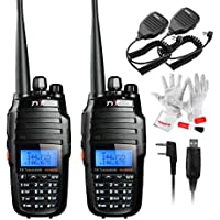 TYT TH-UV8000D Ultra-high Output Power 10W Amateur Handheld Transceiver, Dual Band Dual Display Dual Standby Two Way Radio with Speaker and USB Program Cable- Pack of 2