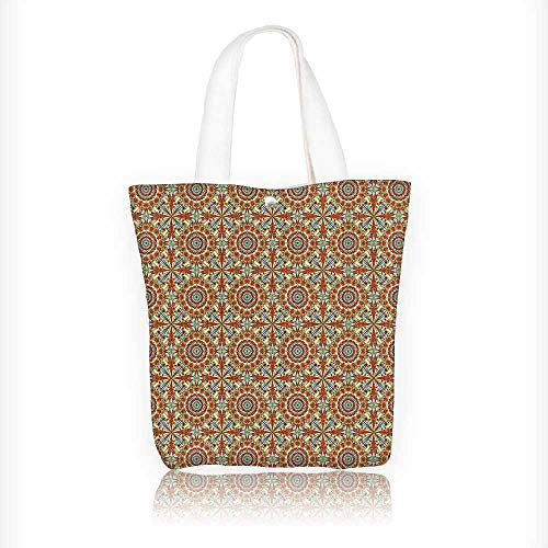 canvas tote bag Patterns with Islamic Persian Ethnic Elements Eastern reusable canvas bag bulk for grocery,shopping W16.5xH14xD7 INCH by Jiahonghome