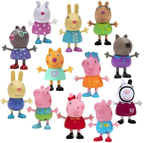 Peppa Pig Car Surprise Blind, 6 Pack - Collectible Mini Figures and Cars, Chosen at Random - Includes 1 Exclusive Mystery Figure Inside Each Pack – Toys for Kids - Amazon Exclusive