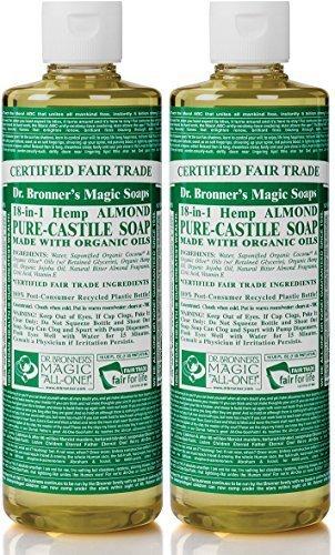 Dr. Bronner's - Pure-Castile Liquid Soap (Almond, 16 Ounce,...