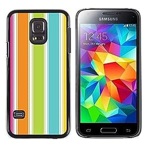 PC/Aluminum Funda Carcasa protectora para Samsung Galaxy S5 Mini, SM-G800, NOT S5 REGULAR! Colorful Beach Summer Vibrant / JUSTGO PHONE PROTECTOR