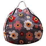 MZS Tec Stuffed Animal Bean Bag Toys Storage Children Plush Toy Bag Home Organizer Creative Chair for Kids (26 inch, Color E)