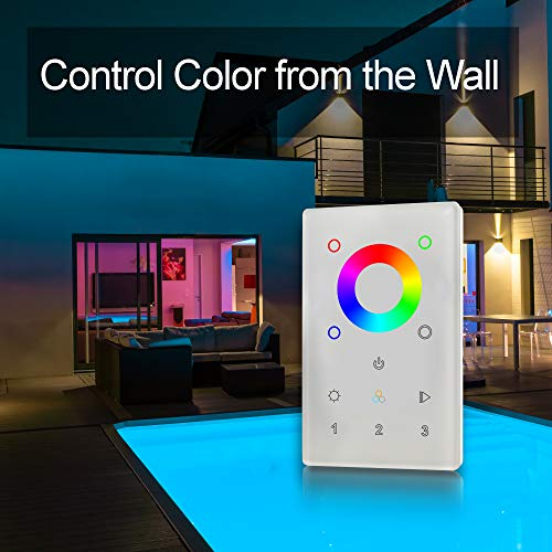 Amazon.com: Zigbee Color Touch Panel Controller and Dimmer with Built-in Repeater. 3 Zone recall. Can control up to 30 Zigbee strip lights or bulbs.