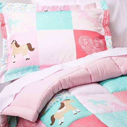 Circo Full Bed In A Bag Wild Horses Patchwork Comforter Set Sheets Shams 7 Pc