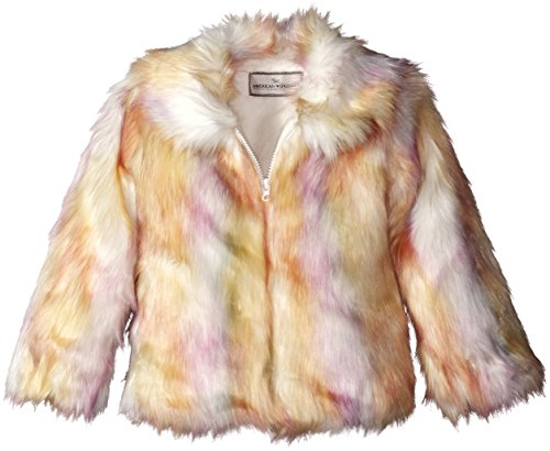 Widgeon Little Girls' Long Rainbow Faux Fur Fashion Coat, Candy Rainbow, 2 by Widgeon