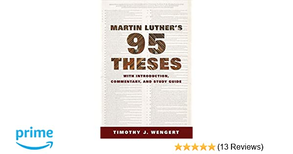 martin luther 95 theses pdf