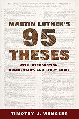 luther 95 thesis summary Luther's 95 theses spread across europe lesson summary to review: in 1517, martin luther published his 95 theses in an attempt.