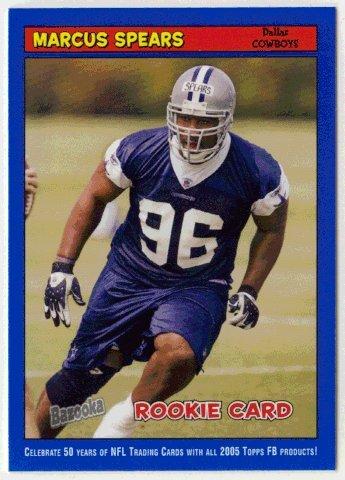Marcus Spears (Football Card) 2005 Topps Bazooka # 205 BLUE