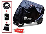 Motorcycle Cover Outdoor Storage – Covers for Mopeds Bikes Motorcycles Waterproof w/FREE Lock Must Have Bike Accessories Large Bag for Bicycle Road Electric Trike Mountain Dirt bike 50cc