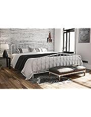 Novogratz 4044149N Bushwick Metal Bed, King, White