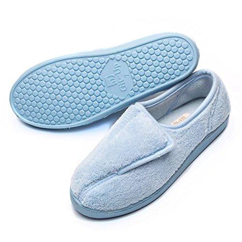 up Closed Slippers Git Foam Memory Arthritis Edema Blue Toed Women Diabetic 8nddfwxtqH