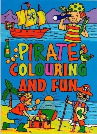 WF Graham 20 - Mini cuadernos para colorear piratas, tamaño A6-20, para niñas o niños, multicolor, 3-Pack: Amazon.es: Hogar